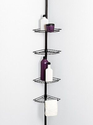 4 Tier Tension Corner Pole Shower Caddy Bathroom Storage Baskets Shelves  Bronze. Lifewit 4 Tier Adjustable Tension Corner Pole Caddy Bathroom