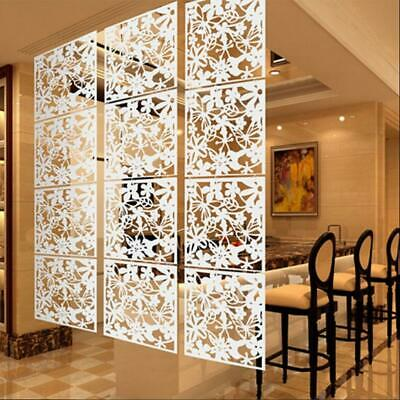 4Pcs Butterfly Bird Flower Hanging Screen Room Divider Panel Home Wall White