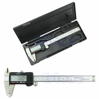 New Digital Electronic 6 inch 150mm LCD Caliper Vernier Guage Micrometer Steel