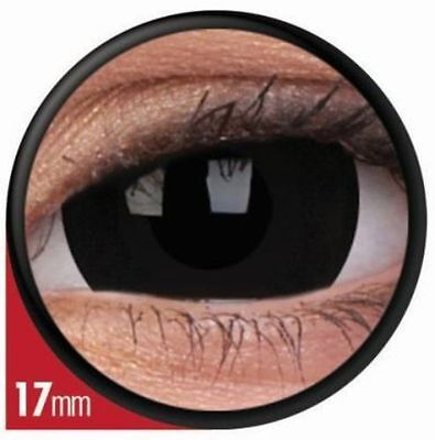 Mini Sclera Kontaktlinsen Black Titan linsen schwarz contact lens Halloween 17mm