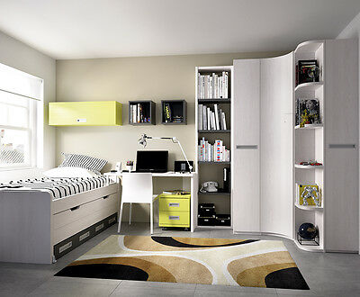 xxl kinderzimmer jugendzimmer eckschrank stauraumbett in 22 farben eur. Black Bedroom Furniture Sets. Home Design Ideas