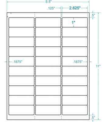 "Compulabel 310904 - 2-5/8"" x 1"" White Address Labels"