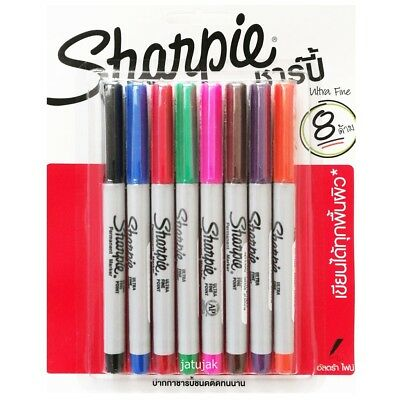 Sharpie Ultra Fine Point Marker Permanent Pack 12 Assorted Colors Promotion