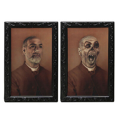 Halloween 3D Changing Face Horror Portrait Haunted Spooky Decorations