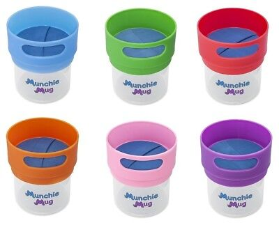 New Munchie Mugs Spill-Resistant 12oz Snack Cup ~ Choose Color