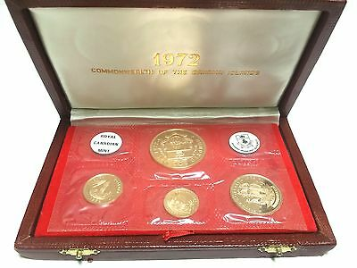 1972 Commonwealth of the Bahamas 22k Gold Proof Coin Set (1.69oz AGW)