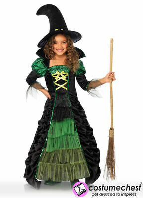 10-12 years Storybook Witch Girls Long Dress by Leg Avenue