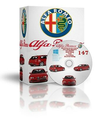 Alfa Romeo 147 Complete Workshop And Service Manual DVD