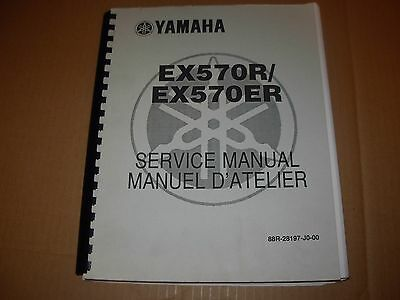 Yamaha EX570R , EX570ER Snowmobile Service Manual , early 1990's