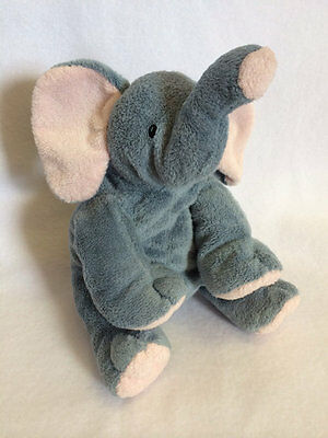 Ty Pluffies Winks Gray Pink Elephant Plush Stuffed Animal Toy 2002