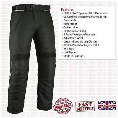 Ladies Womens Girls Waterproof Motorcycle Motorbike Biker Textile Trouser Pants