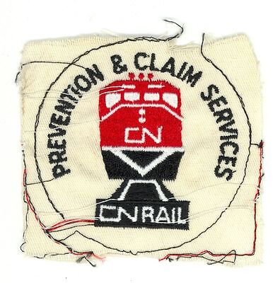CN Canadian National Railways Prevention & Claim Services Vintage Patch Proof