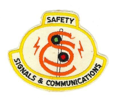 Safety Signals & Communications HTF Vintage Railway Patch