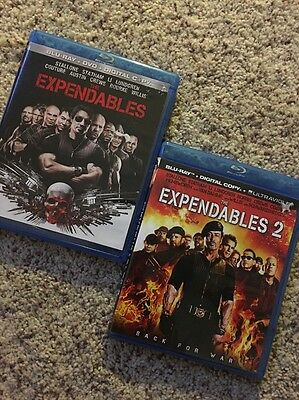 The Expendables I & 2: (Blu-Ray + Dvd + Digital)  Brand New !!  (Read On)