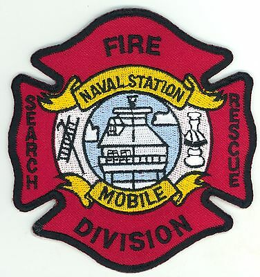 Naval Station Mobile Fire Division Department Uniform Patch US Navy Alabama AL