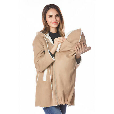 Mouse over image to zoom Maternity-Clothes-Suede-imitate-Coat-With-Baby-Wearing