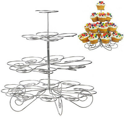 4 Tier 23 Cupcake Stand ChristmasTree Bracket Festival Wedding Party Tray Holder