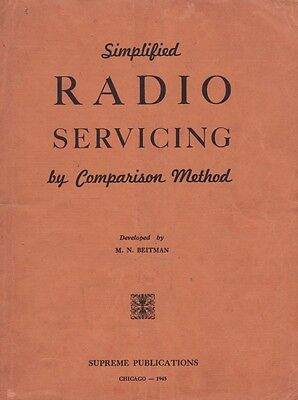 M.N. Beitman - Simplified Radio Servicing by Comparison Method (1945) - CD