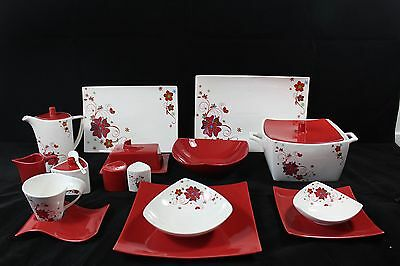 For 6 People 63 Piece Dinner Setting.