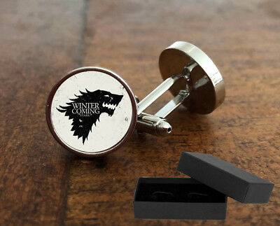 Game Of Thrones - Dire Wolf - House Of Stark - Cufflinks - Mens Novelty Gift