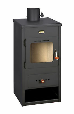 A Legna Stufa Combustibile Solido Log Burner Camino Top Canna fumaria 8 kw Prity