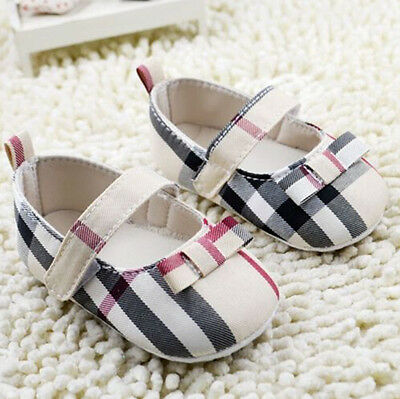 Lovely Infant Toddler Baby Girl Soft Sole Crib Shoes Newborn to 18 Months