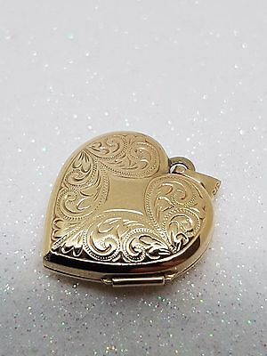 100% Genuine 9Ct Y/gold Beautiful Heart Shaped Locket With Surprise Inside