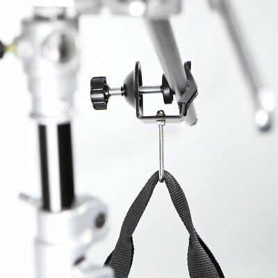 Meking Studio Light Stand Clamp with Metal Hook For Boom Stand Sand Bag