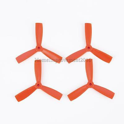 4pcs Orange 4045 Bull Nose 3-Blade Flat Propellers for FPV Remote Control