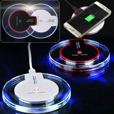 For IPhone 6S 6 SE 5S Plus QI Wireless Charger Fast Charging Receiver + Pad Mat