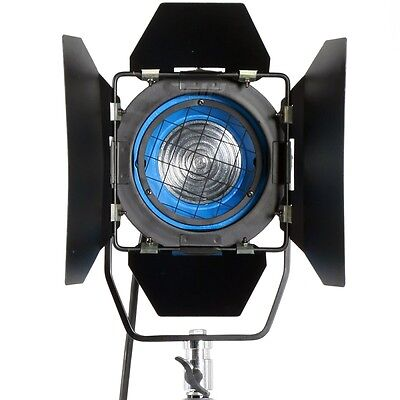 650W Fresnel Tungsten Spotlight Lighting for Studio Light+Bulb+Barndor Camera