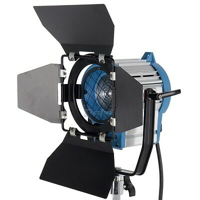 300W Fresnel Light Tungsten Spotlight Lighting for Studio Video+Bulb+Barndor