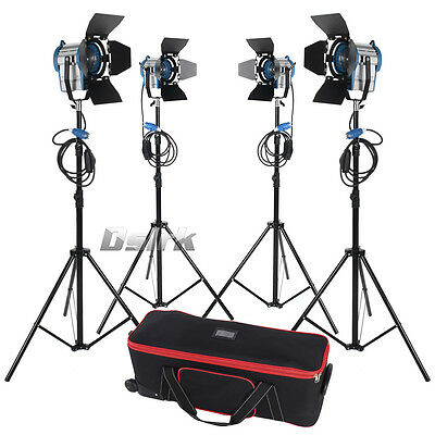 300w*2+650w*2 Tungsten Fresnel Light  Video Studio Light Continuous Light Kit
