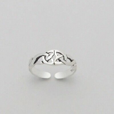 Adjustable 925 Sterling Silver Butterfly Starfish Celtic Dragonfly Band Toe Ring