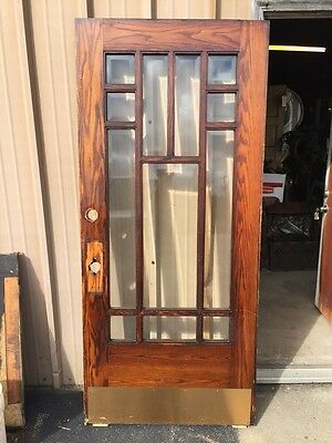 Cm 16 Antique Oak Townhouse Beveled Glass Entrance Door 36 Inch