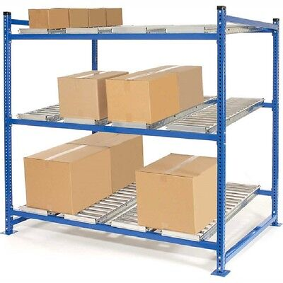 """NEW! UNEX Flow Cell Heavy Duty Gravity Rack 72""""W x 48""""D x 72""""H with 3 Levels!!"""