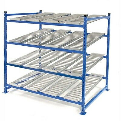 """NEW! UNEX Flow Cell Heavy Duty Gravity Rack 72""""W x 48""""D x 72""""H with 4 Levels!!"""