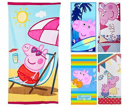 Official Peppa Pig Character Beach Towel 100% Cotton 70x140cm