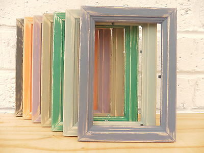 Picture/Photo Frame/Distressed/Vintage/Shabby Chic/Pine/7 Colour Options/5 Sizes