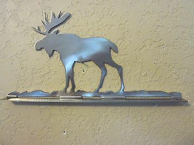 Moose Mailbox Topper (No Name) Steel Raw Metal Finish