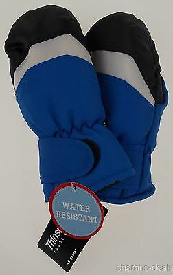 Wonderkids Toddler Blue Winter Mittens 3M Thinsulate Lined One Size Snow NEW