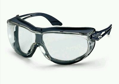 2 x Uvex skyguard NT Safety Glasses Adjustable Clear  Polycarbonate Anti-Fog