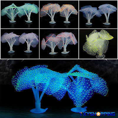 Artificiel Fluorescent Cocal Effet Brillant Silicone Décor D'aquarium