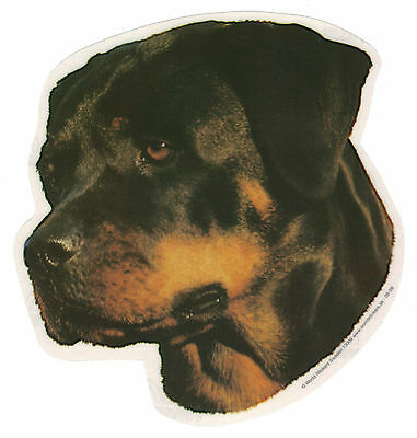 Rottweiler Decal Sticker Dog Breed Transparent UV Resistant Plastic Film