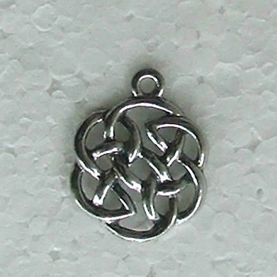 Round Celtic Knot #1 Pewter Charm Lead Free Earrings Bracelets Small Necklace