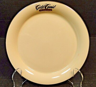 "Alaska Airlines Gold Coast Service Snack Plate 7"" Transportation China MINT!"
