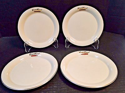 "Alaska Airlines Gold Coast Service Snack Plates 7"" Transportation FOUR MINT!"