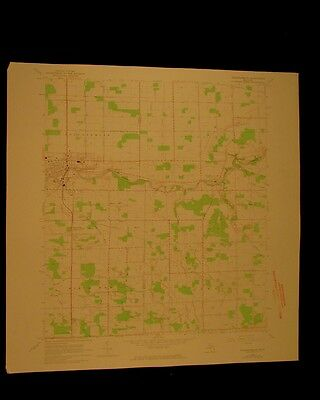 Frankenmuth Michigan vintage 1974 original USGS Topographical chart