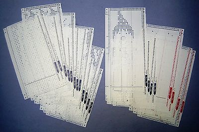 "Pre-punched card set For All 24-stitch Knitting Machine -Brother ""Q "" Series"