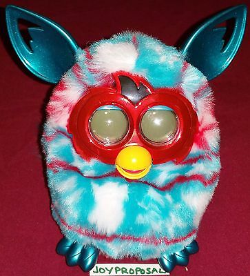 FURBY BOOM Festive Sweater Christmas Holiday Blue Red Hasbro Toy Interactive App
